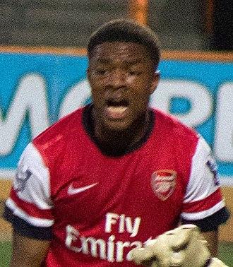 Chuba Akpom - Akpom playing for Arsenal U21 in 2012