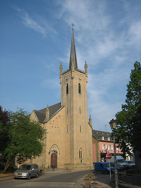 Church in Beaufort, Luxembourg.