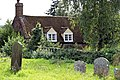 Church of St Nicholas, Ash-with-Westmarsh, Kent - churchyard and cottage.jpg