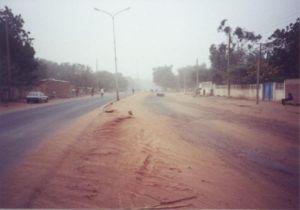 Boulevard in N'Djamena.