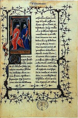 Cicero De amicitia Bibliotheca Palatina