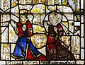 Cirencester, St John the Baptist church, medieval stained glass detail (45333063031).jpg