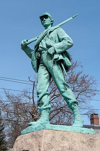 Theo Alice Ruggles Kitson - Image: Civil War memorial in North Providence, by Kitson