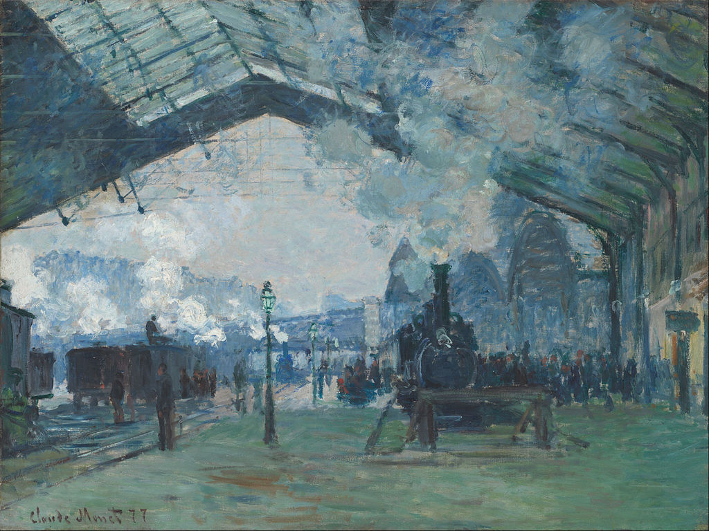 """Arrival of the Normandy Train, Gare Saint-Lazare"" by Claude Monet"