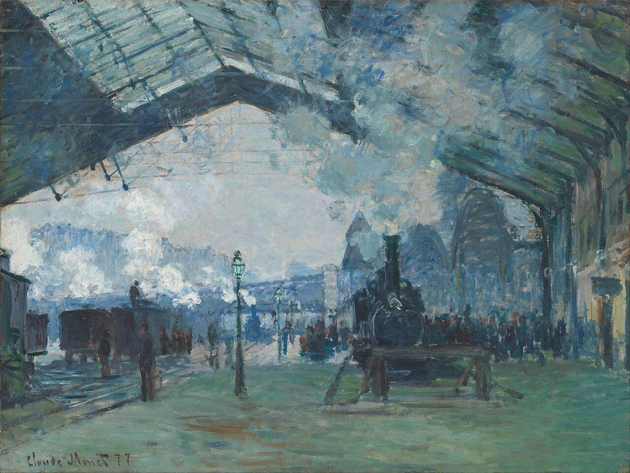 Image: Claude Monet. Arrival of the Normandy Train, Gare Saint-Lazare, 1877.