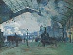 Claude Monet - Arrival of the Normandy Train, Gare Saint-Lazare - Google Art Project.jpg