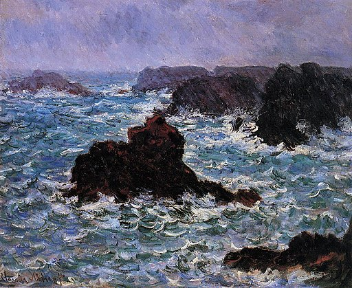 Claude Monet - Belle-Ile, Rain Effect