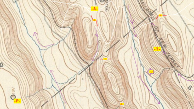 Cliff On A Topographic Map.Saddle Landform Wikipedia