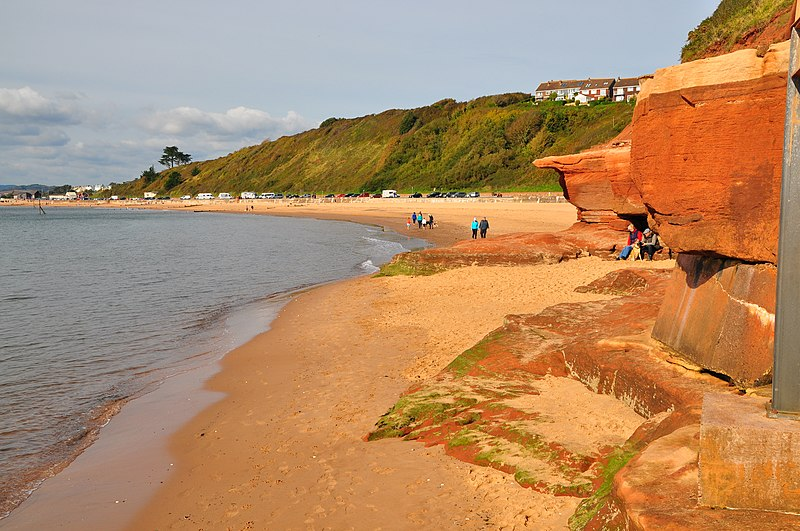 File:Cliffs and beach at Rodney Point (6429).jpg