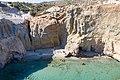 Cliffs surrounding Tsigrado Beach on Milos Island, Greece.jpg