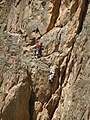 Climbers on Lajvar wall.JPG