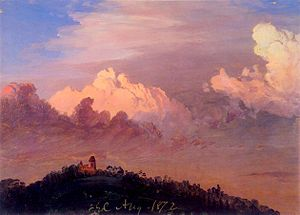 Olana State Historic Site - Clouds over Olana, by Frederic Edwin Church, 1872