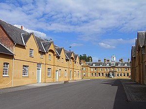 Stratfield Saye House - The coachhouses and stable blocks at Stratfield Saye House.