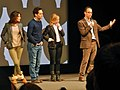 Cobie Smulders, Paul Rudd, Amy Poehler and David Wain (12130230003).jpg