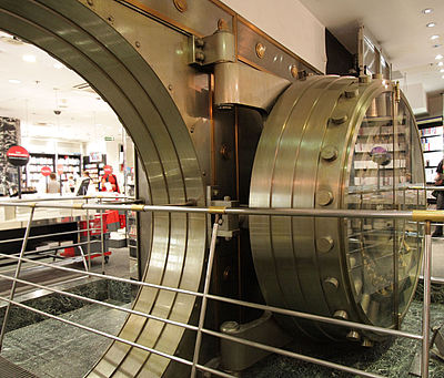Virgin Megastore bank vault on Champs Elysées, Paris (2009)
