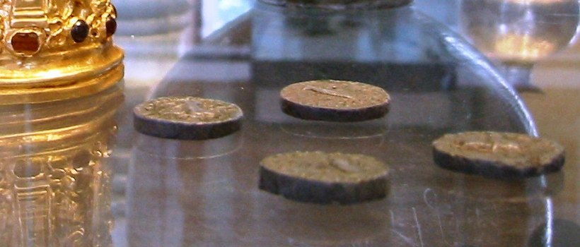 Coins of Azes I inside the Bimaran casket