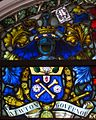 Coleraine Town Hall Memorial Window Irish Society Detail Coat of Arms of Governor Sir Alfred James Newton 2014 09 13.jpg