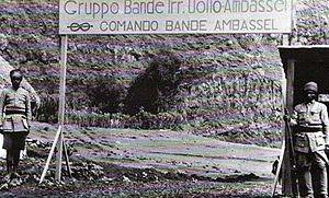 "Bands (Italian Army irregulars) - ""Bande Ambassel"" of Italian Army irregulars in 1939 Ethiopia"