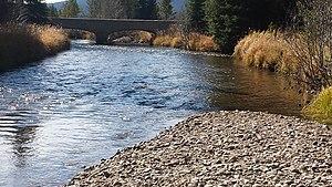Kawuneeche Valley - Colorado River at the Coyote Valley Trail head, Kawuneeche Valley