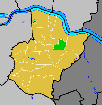 Colyers (ward) - Colyers ward (green) within the London Borough of Bexley (yellow)