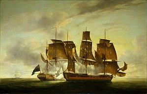 Action of 29 July 1782 - Image: Combat de la fregate Amazone et du HMS Santa Margarita juillet 1782