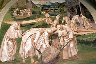 Territorial Abbey of Monte Oliveto Maggiore - Signorelli's fresco.