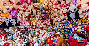 Stuffed toy - Teddies shop in Lima, Peru