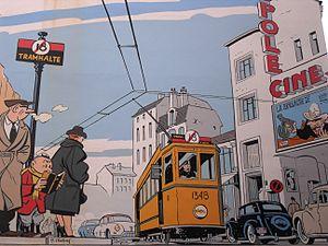 Ligne claire - Yves Chaland: Le jeune Albert (Brussels' Comic Book Route)