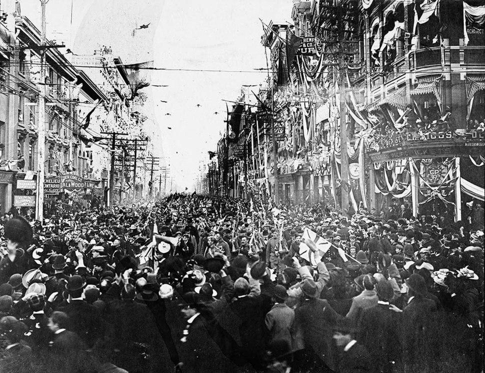 Company C returns from Boer War