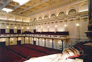 Sonntag aus Licht - Interior of the Concertgebouw, Amsterdam, where Engel-Prozessionen was premiered on 9 November 2002
