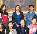 Congresswoman Pelosi meets Presidio Middle School Students (26959319922) (cropped).jpg