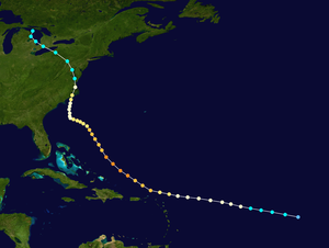 Hurricane Connie - Image: Connie 1955 track