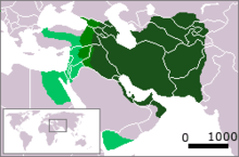 Carte de l'Empire sassanide vers 620