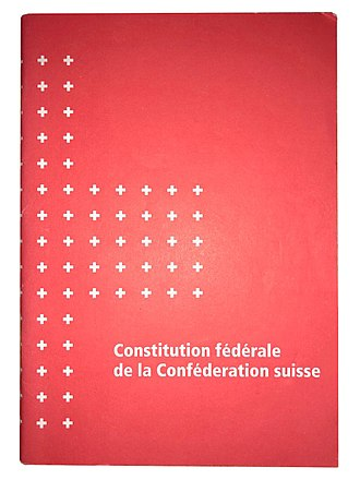 Swiss Federal Constitution - Image: Constitution suisse version française