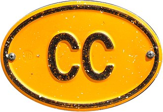 International vehicle registration code - Example of the yellow oval diplomatic and consular corps plate or sticker