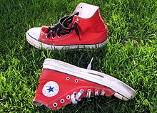 443c42adda92 A red pair of Converse Chuck Taylor All-Stars