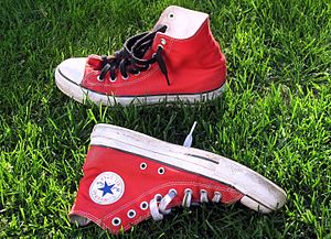 Converse (shoe company) - A red pair of Converse Chuck Taylor All-Stars