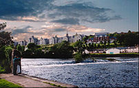 The River Lee flows through the city in two ch...