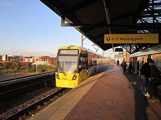 Cornbrook tram stop - Image: Cornbrook Metrolink station (11)