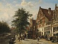 Cornelis Springer - De Zuiderhavendijk in Enkhuizen - SK-A-2388 - Rijksmuseum.jpg