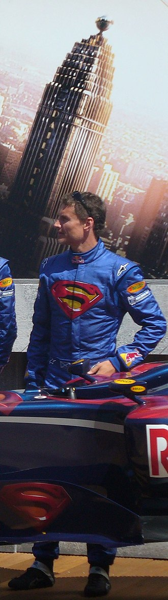 2006 Monaco Grand Prix - Red Bull Racing carried the Superman logo to promote the launch of Superman Returns, and David Coulthard went to the podium wearing the hero's cape.