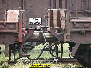 Buffers and chain coupler - Cars coupled in ride mode