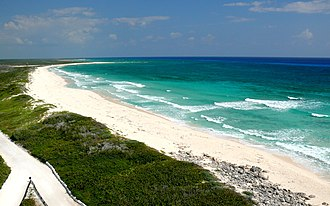 Quintana Roo - Beach of Punta Sur at south at the Cozumel Island