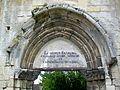 Crépy-en-Valois (60), ruines de la collégiale Saint-Thomas, portail (détail), rue de la Hante 17.08.2011 11.jpg