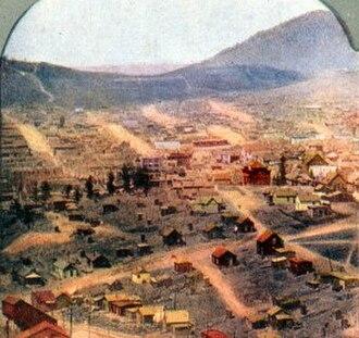 Cripple Creek miners' strike of 1894 - Image: Cripple Creek 1900
