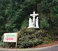 Cross at the Grotto - Portland, Oregon.JPG