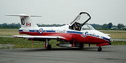 A Canadair CL-41 of the Snowbirds