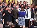 Cubs present Obama with W flag C2UJlN2VIAAtH1f.jpg