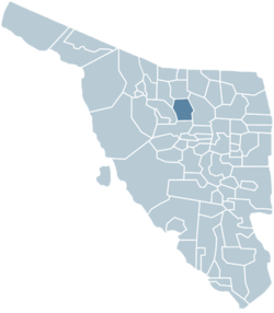 Location of the municipality in Sonora