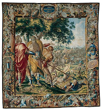 Albert Auwercx - Image: Cyrus Defeats Spargapises, from The Story of Cyrus, c. 1670
